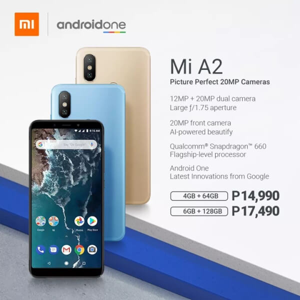Xiaomi Mi A2 Launched; Price Starts at Php14,990!