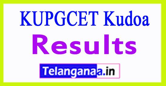 KUPGCET Results 2018 kudoa Kakatiya University