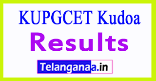 KUPGCET Results 2017 kudoa Kakatiya University