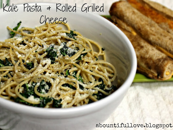 Meatless Friday : Kale Pasta & Rolled Grilled Cheese