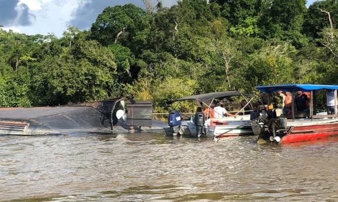 Em Itaituba: Corpo de terceira vítima do naufrágio de balsa é encontrado