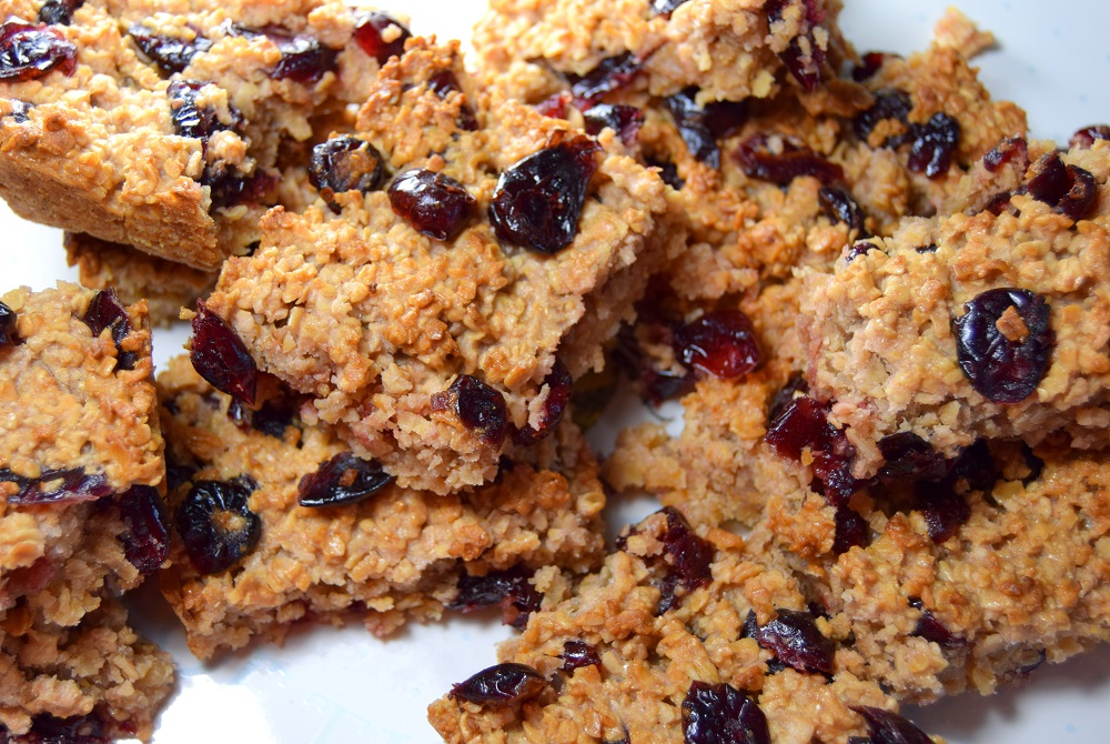 Gluten Free Cranberry And Oats Flapjack Bars