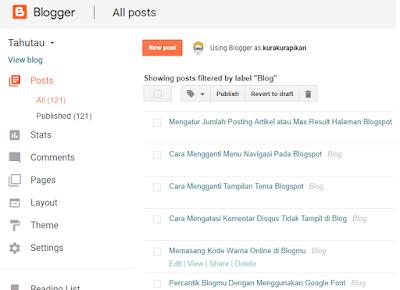 membuat blog dengan platform blogger