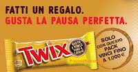 Logo Twix&Caffè 2017: vinci Ticket Compliments da 50 euro e 1.000 euro