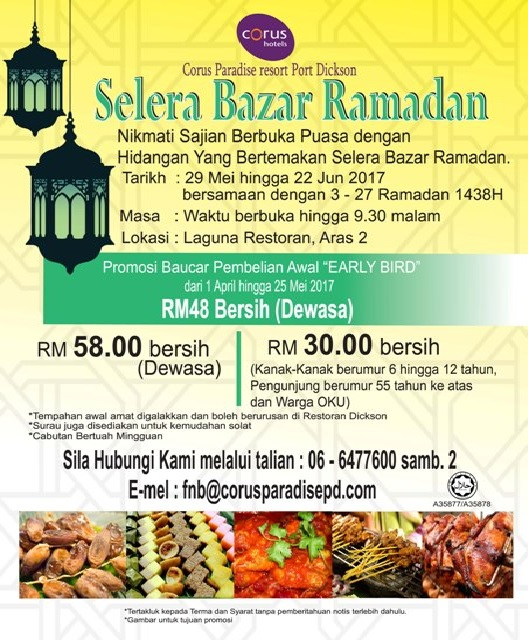 Buffet Ramadhan corus paradise resort pd