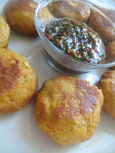 Thai Tempeh Patties with a Red Chili Dipping Sauce