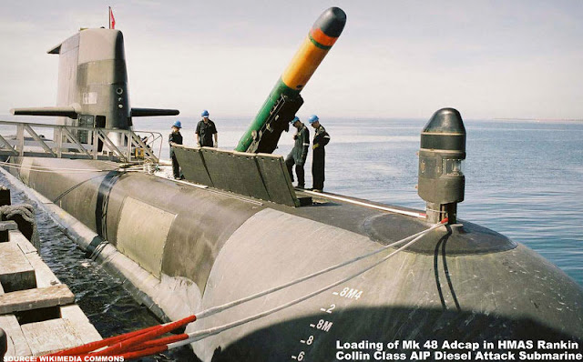 Image Attribute: Loading of Mk 48 Adcap Torpedo in HMAS Rankin / Source: Wikimedia Commons