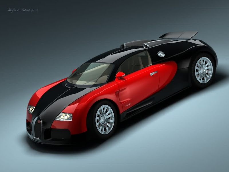 Bugatti veyron in red & black colour title=