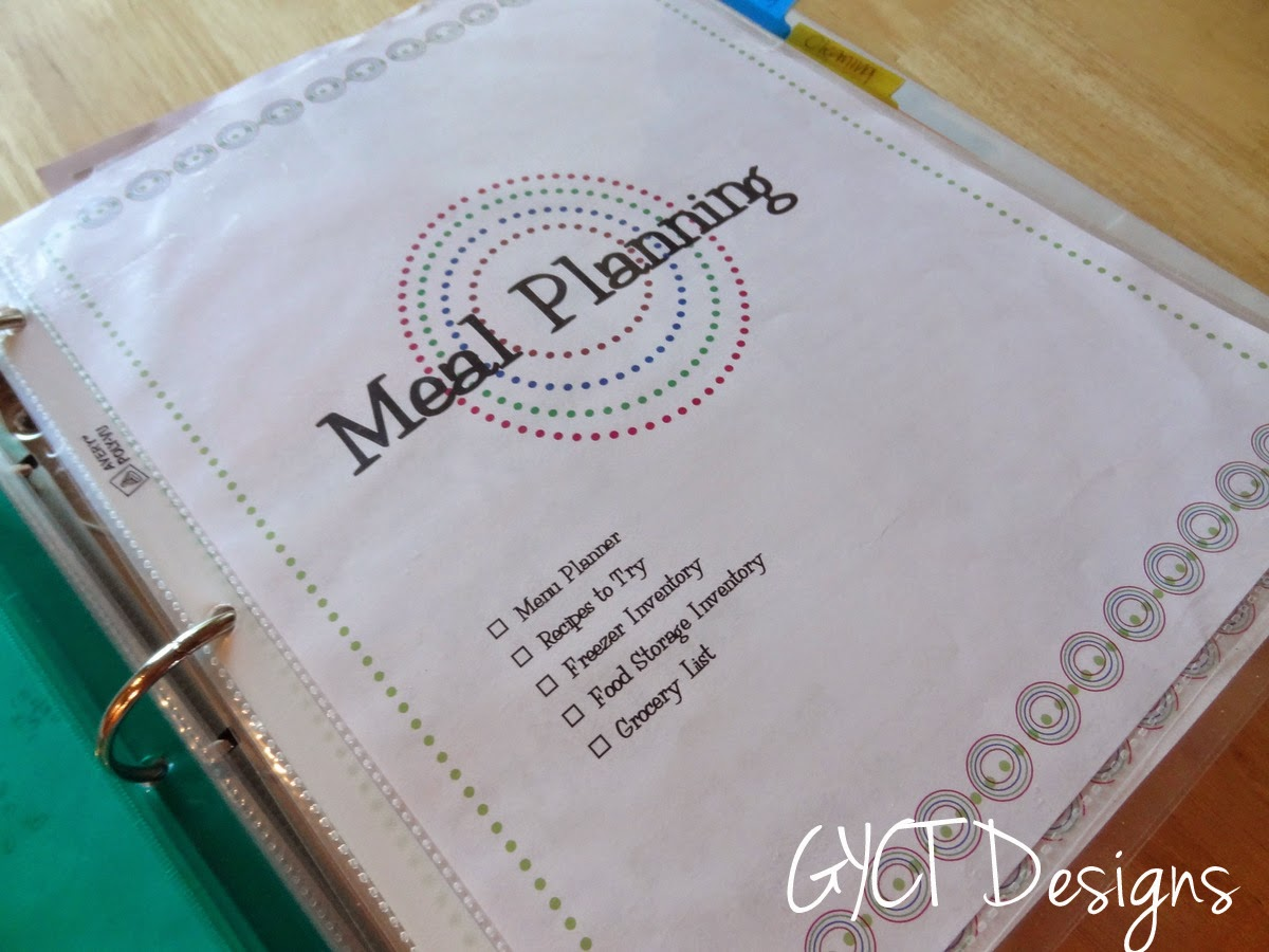 Week 1:  Menu Planning for Organize Me!  Sizzlin' Summer