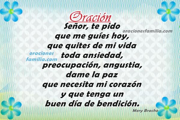 Oraciones cristianas de buenos días con imágenes, frases cortas con oración de la mañana por Mery Bracho.