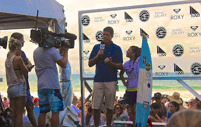 Cameraman and Media with World Champion Surfer Lima