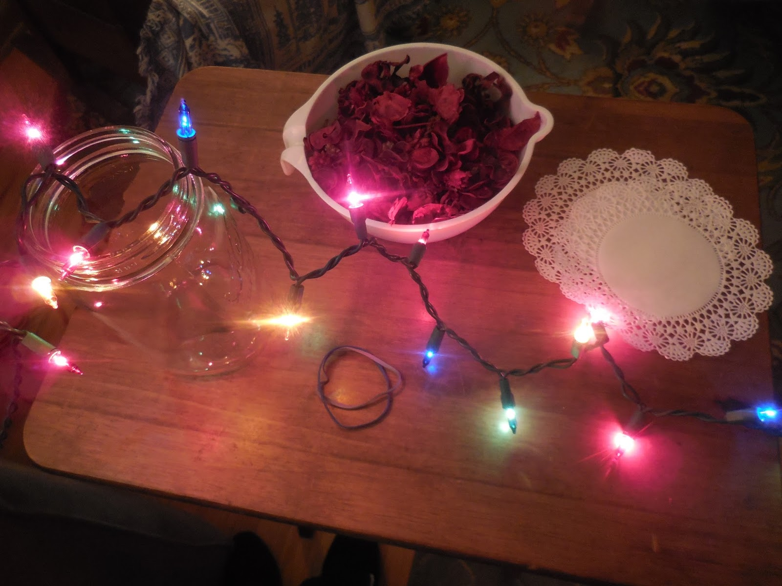 Canning Jar String Lights : Backyard Patch Herbal Blog: How To-sday - Lighted Potpourri Jar & Deal of the Day