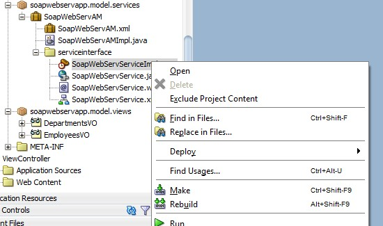 Create SOAP Web Service with Application Module quickly in