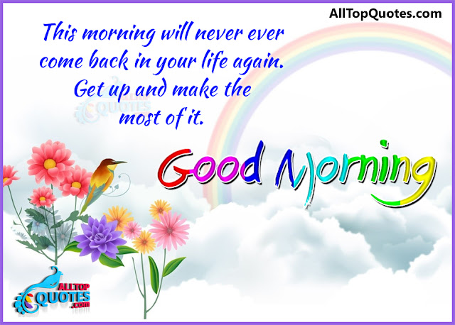 Wonderful Good Morning Quotes in English with Images