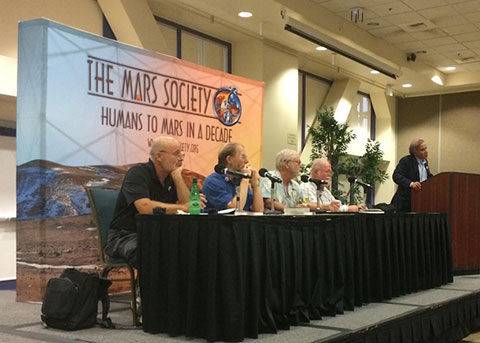 Panel session with SciFi authors: David Brin, Jerry Landis, Greg Benford, Larry Niven and Mars Society Robert Zubrin