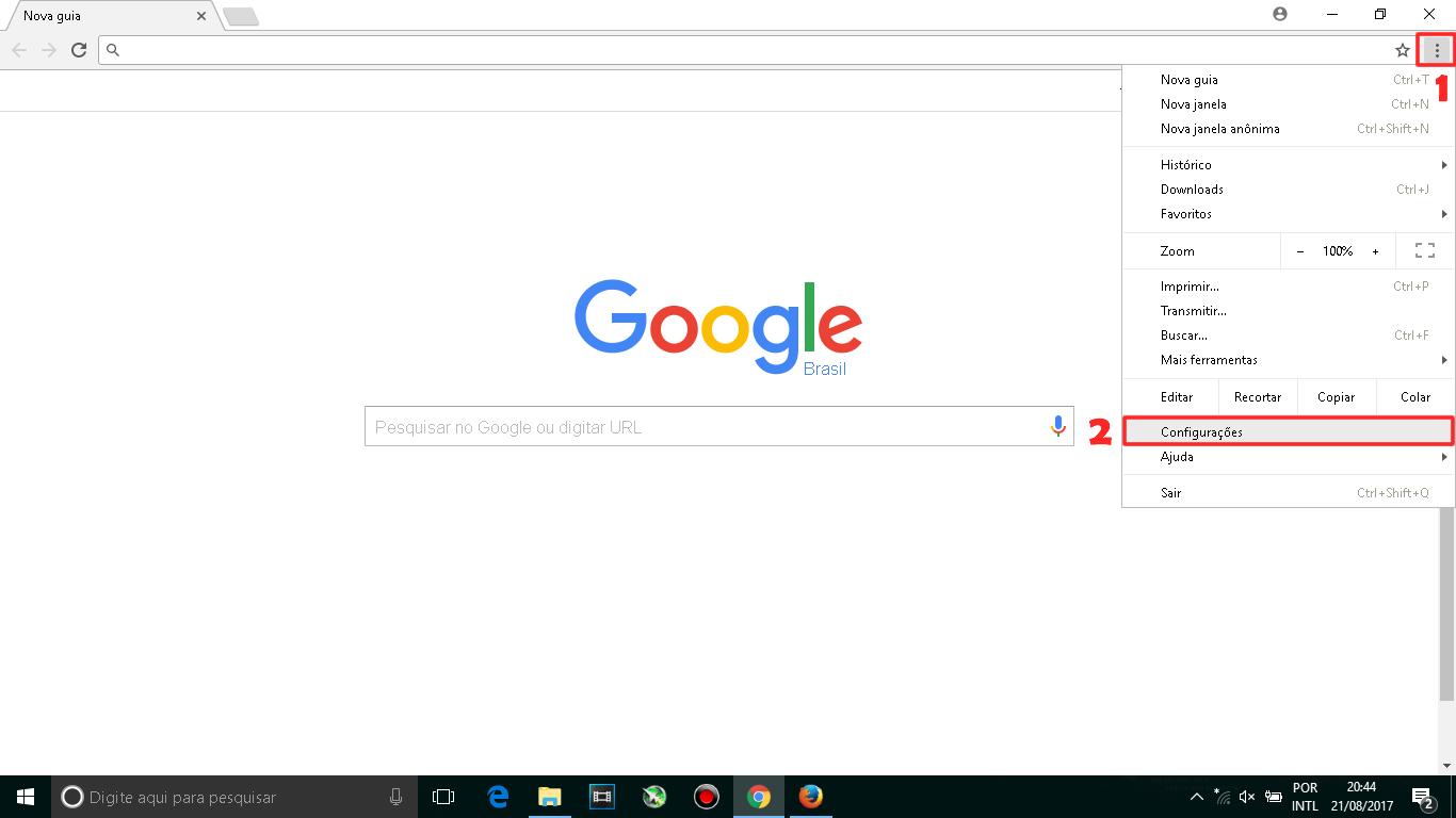 Como adicionar o Google como página inicial do navegador - Chrome e Mozilla