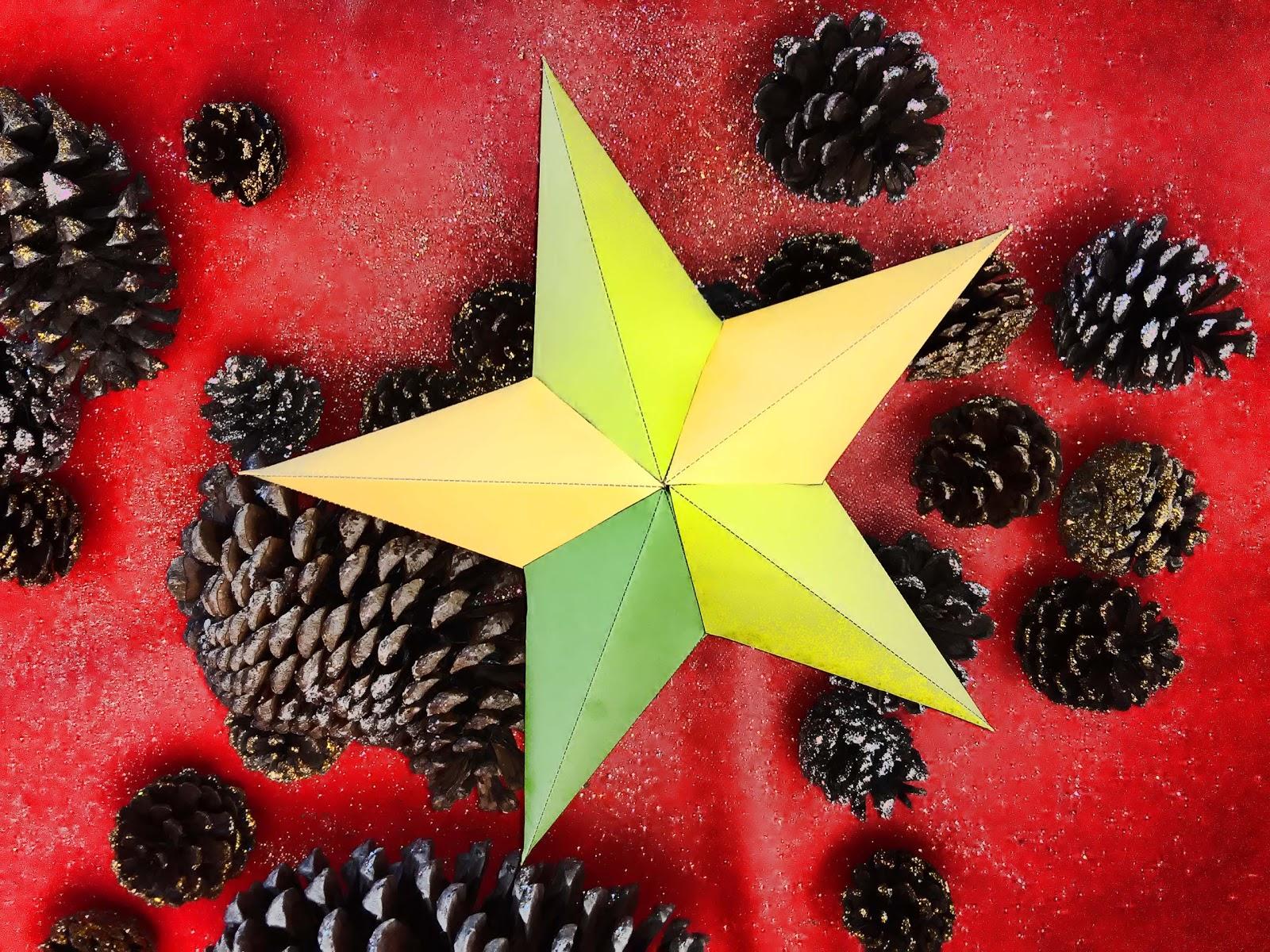Plantillas De Estrellas Para Decorar.Plantilla Para Estrellas 3d