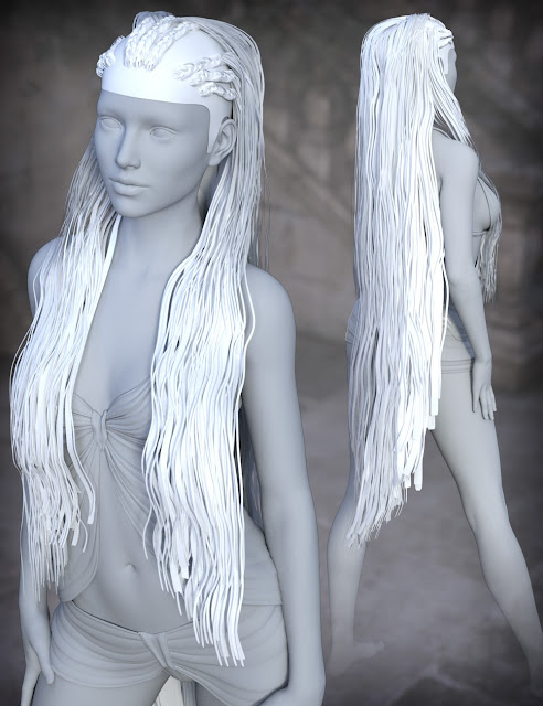 FireGem Hair for Genesis 3 Female and Genesis 2 Female