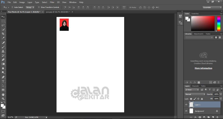 Cara Print Pas Foto Sesuai Ukuran dengan Photoshop