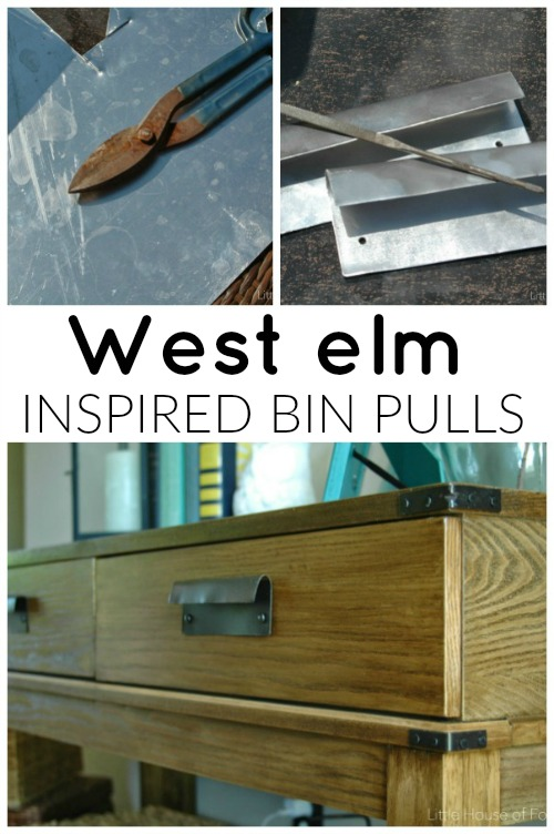 How to make West Elm inspired bin pulls