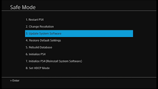 Setting Safe Mode Pembaruan PlayStation