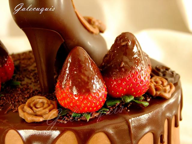 zapato de chocolate realizado con molde