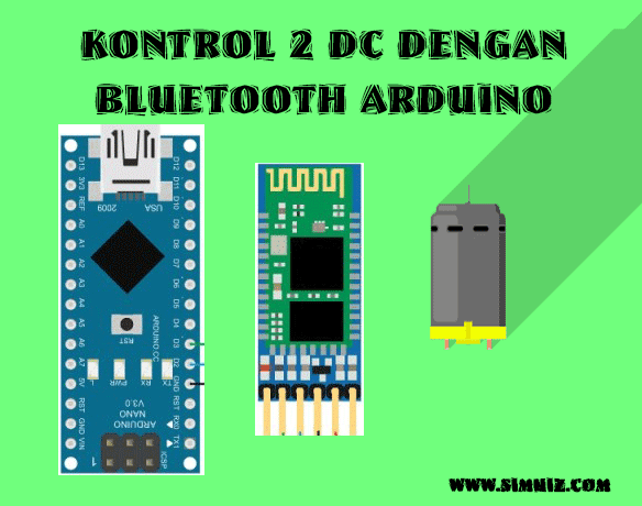 Kontrol DC Lewat Bluetooth arduino untuk mobil remote