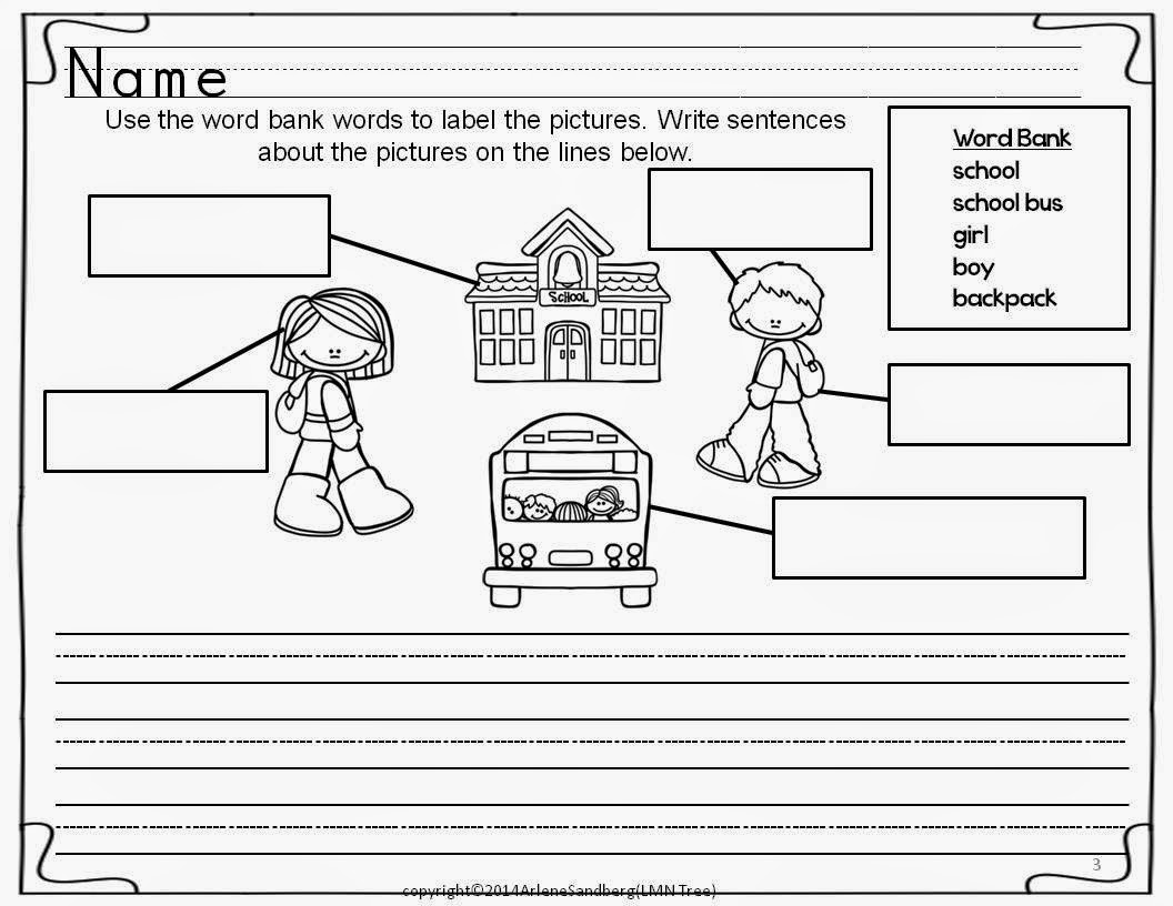 new student writing activity for 2nd