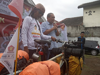 Gowes Keliling Lombok, Irawan Kampanyekan HBK