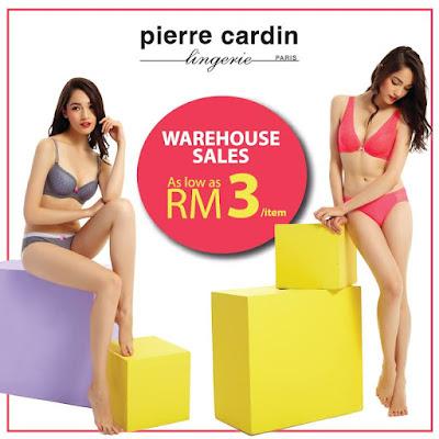 Pierre Cardin Lingerie Malaysia Warehouse Sale 2017