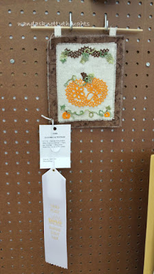 """Autumn Pumpkin"" tatted lace design by Mark Meyers tatted by Wanda Salmans, 3rd place in Holiday Decoration 2015 Kansas State Fair wandasknottythoughts"