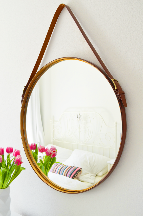 make it boho diy captain s mirror spiegel mit lederg rteln. Black Bedroom Furniture Sets. Home Design Ideas