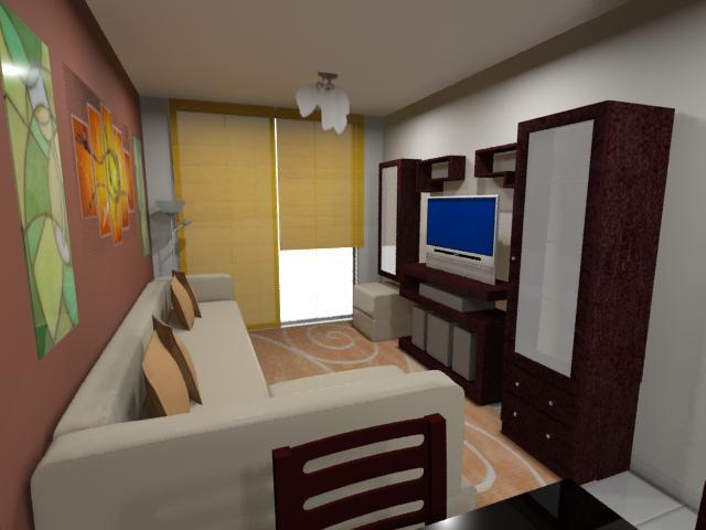 Akire Design Departamento en Condominio 60m2  SALA COMEDOR