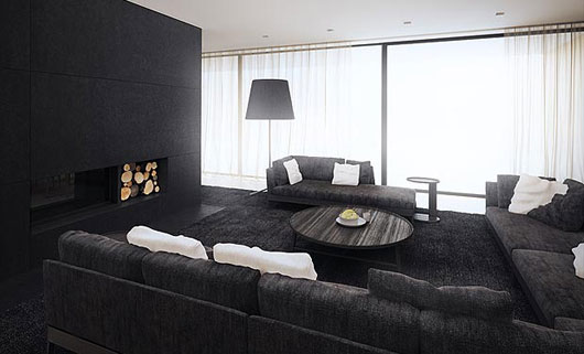 Ihomee Luxury Modern Home Interior With Black White And