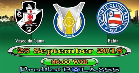 Prediksi Bola855 Vasco da Gama vs Bahia 25 September 2018