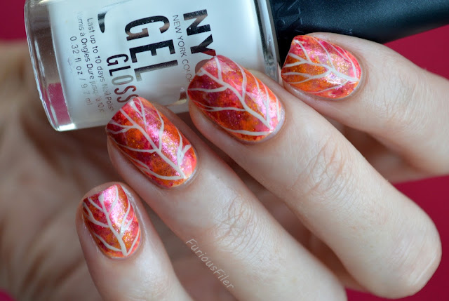 nails autumn seasonal leaf rustic sparkly freehand