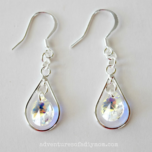 diy teardrop earrings