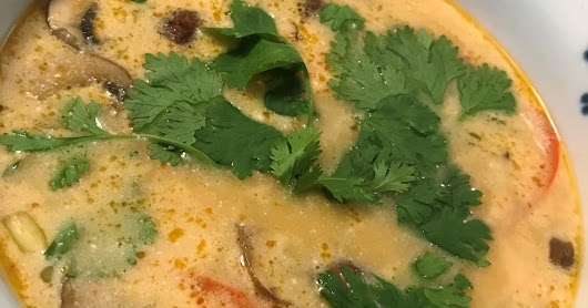 Keto Friendly Tom Ka Soup (Tom Kha Gai)