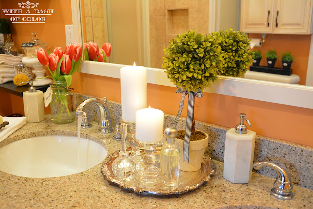 Adding Inexpensive Details To Master Bathroom Decor