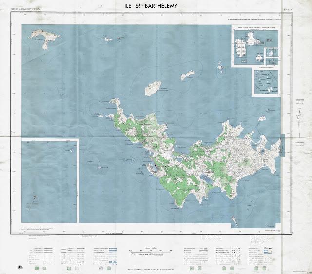 Carte Saint-Barthélemy 10 000