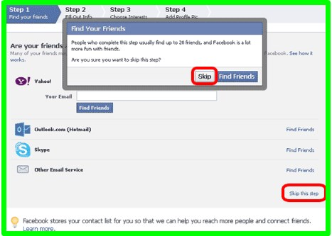 facebook sign up create new account gmail