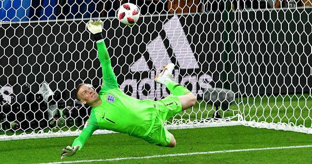 Pickford Sebut Tembakan penalti Pogba Mudah Ditebak