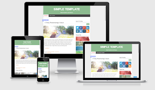 simple  Responsive Magazine Blogger Template