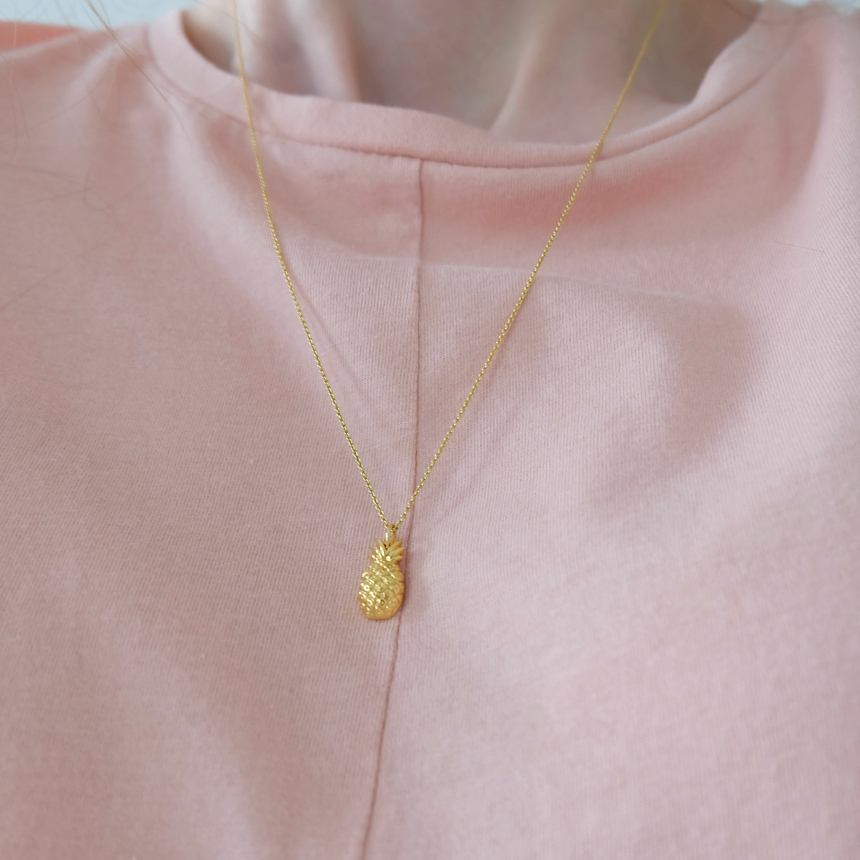 whistles pineapple necklace
