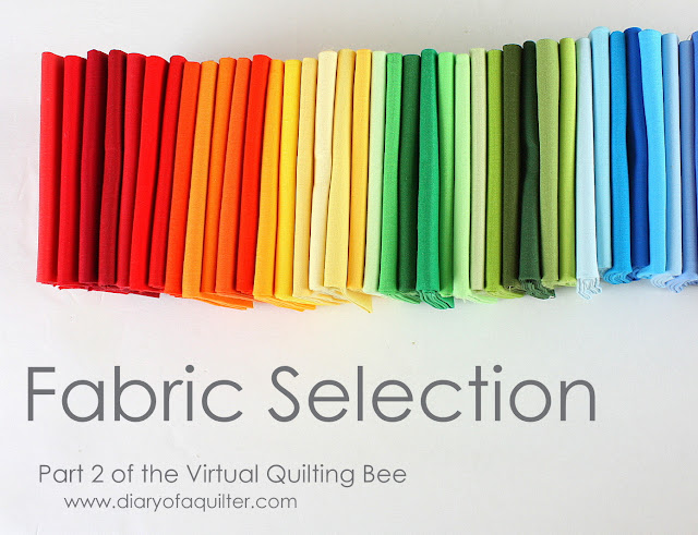 A Few Tips on Choosing Fabric - Virtual Quilting Bee part 2