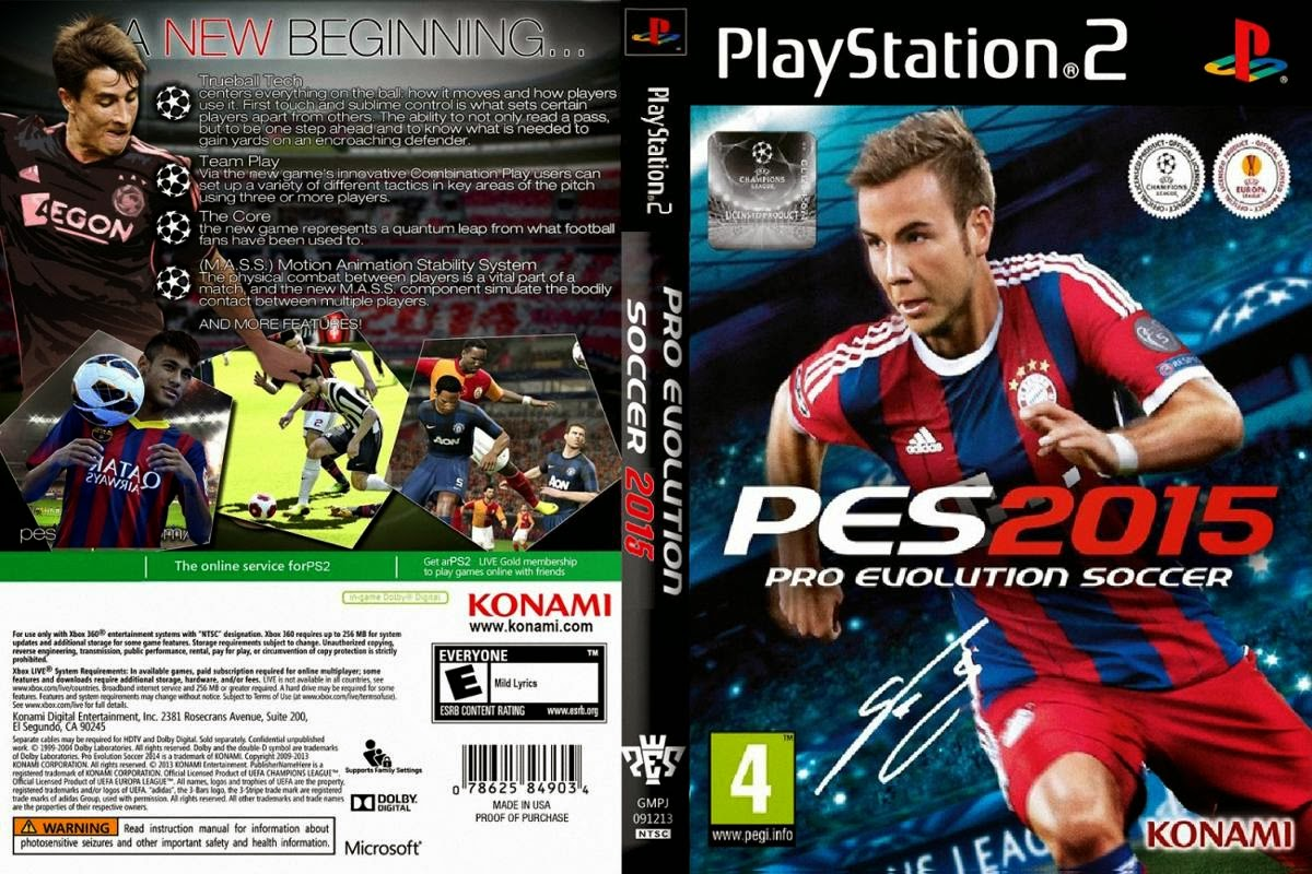 Games Ps2 iso Pes 2015