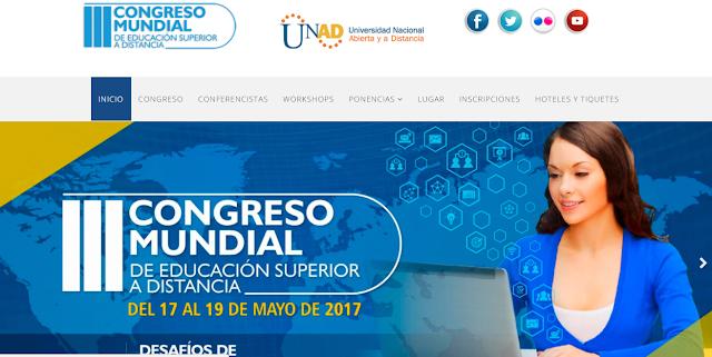 III congreso Mundial de Educación Superior a Distancia 17 a 19 Mayo. Bogotá. @UniversidadUNAD