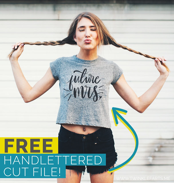 Free future Mrs handlettered cut file