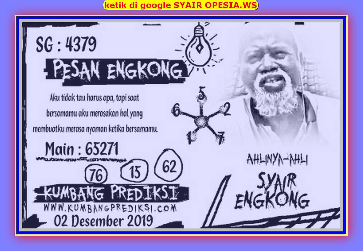 Kode syair Singapore Senin 2 Desember 2019 93
