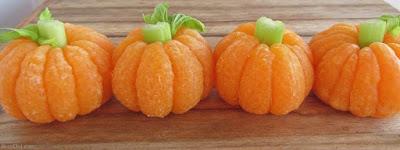 zucche realizzate con mandarini